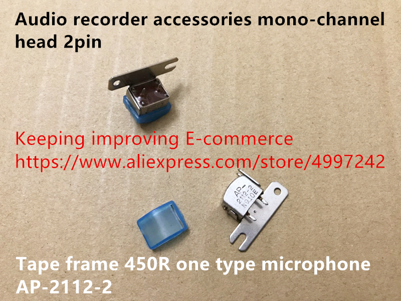 Hot Spot Audio Recorder Accessories Mono-channel Head 2pin Tape Frame 450R One Type Microphone AP-2112-2 Sensor Switch