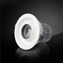 10 шт./лот круглый светодиодный светильник двойной теплый белый холодный белый 12 Вт 15 Вт 20 Вт COB светодиодный светильник, встроенный КРС глаз лампа AC90-265V