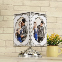 1 piece Creative resin music box rotate photo frame free shipping 5 inch wedding pictures photo frame Personality gift table