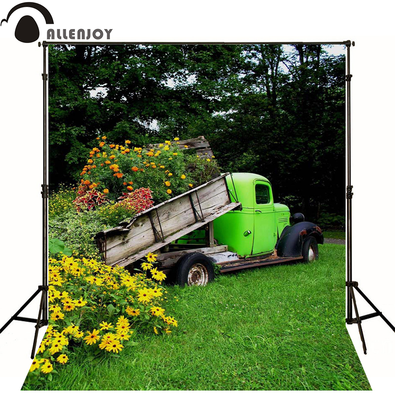 Allenjoy Photographic background Grass tree flower car newborn vinyl backdrops photocall camera fotografica wood kate photographic background wood paneled walls of old letters newborn photography photocall interesting camera fotografica