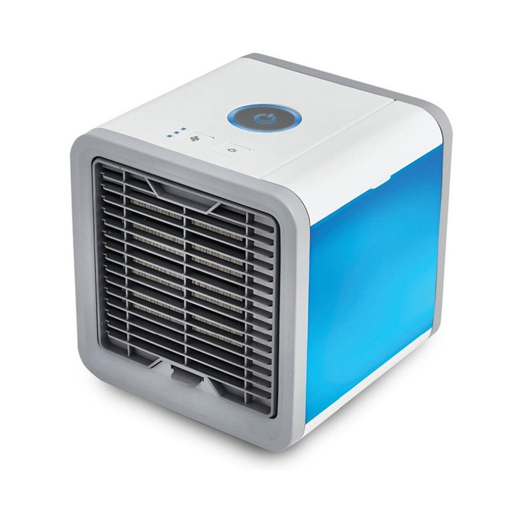 Portable Mini USB Air Conditioner Air Cooling Fan with 7 Colors LED Lights Air Cooler Fan Humidifier Purifier for Home Office