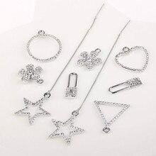 Hair material DIY handmade necklace bracelet necklace earrings Diamond Pendant triangular geometric alloy fittings