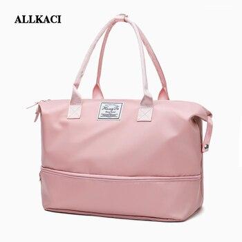 05fa096dc Bolsa de fin de semana bolsa de viaje bolsas de viaje de nailon equipaje de  mano para hombres y mujeres bolsas de lona de viaje bolsos grandes lona 48