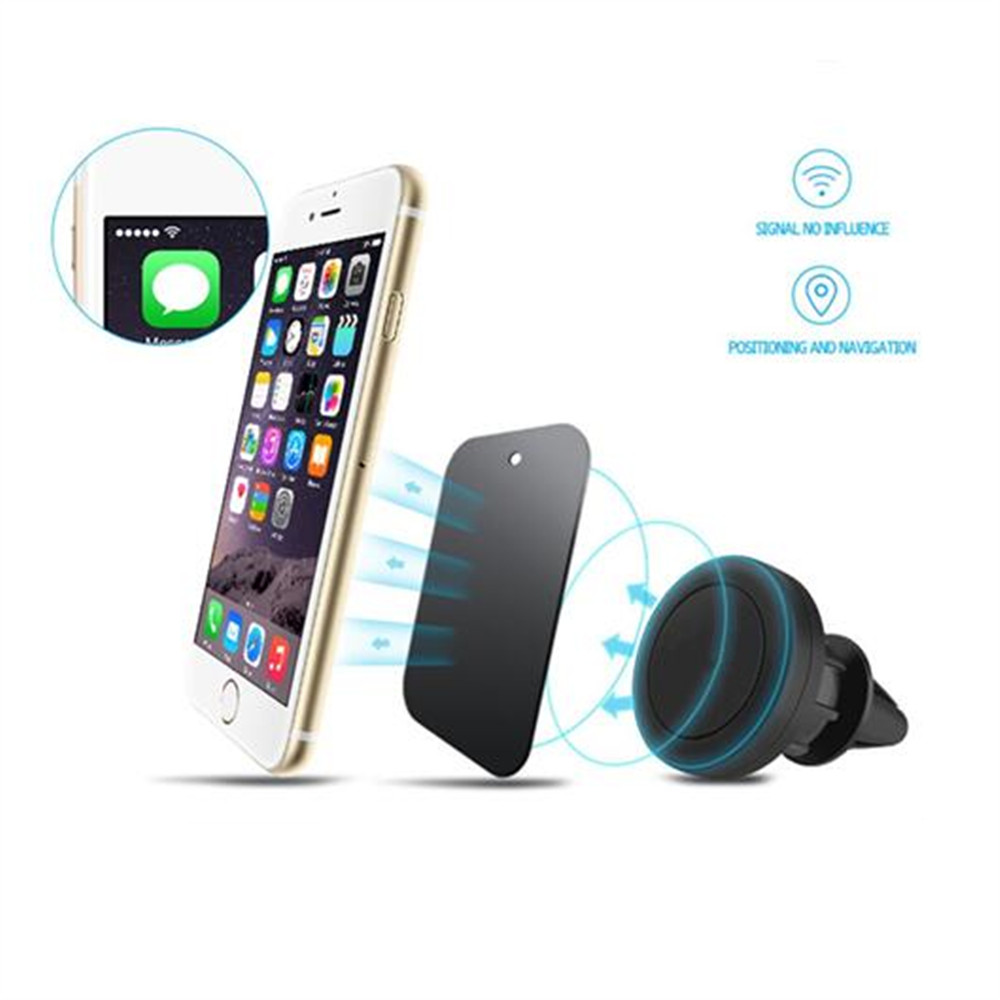General purpose 360 degree smartphone magnetic Car Mount Holder with Fast Swift-Snap Technology for iphone7plus and Mini Tablets