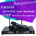 Professional EM2050 SKM2500 True Diversity UHF/PLL Wireless Microphone System with Dual EW300G3 Handheld Transmitter Mic