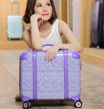 Trolley luggage travel bag luggage multifunctional box 17 trolley computer bags,women high quality abs pc travel luggage bags