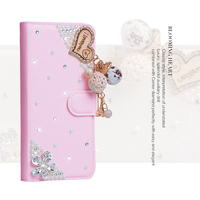 Luxury Fashion Girl Woman Lady Bling Pu Leather Diamond Wallet Case For Samsung S5 S6 S7
