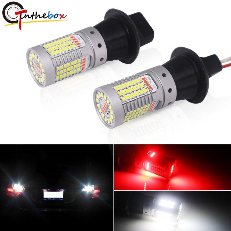 IJDM автомобильный 1156 светодиодный белый/красный двухцветный Canbus P21W BA15S 7506 светодиодный лампы для резервные фары заднего хода автомобиля и за...