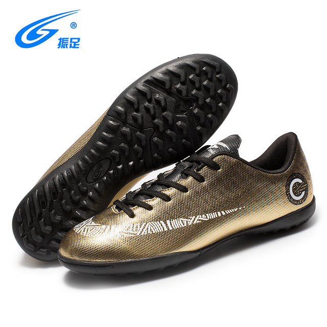 9bca8249c18d7 ZhenZu Football Shoes Soccer Cleats Boots Kids TF Turf Sneakers Boys Girls  Indoor Training Shoes Size
