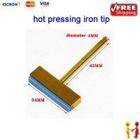 Freeshipping Useful Hot Pressing Shovel 30W Hot Press T Type Iron Tip Welding Tip