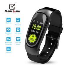Fitness Bracelet Men Heart Rate Smart Band with Bluetooth Headset Answer Call Fitness Tracker Watch for Xiaomi Huawei SmartPhone(China)