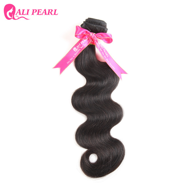 AliPearl 100% Human Hair Bundles Brazilian Body Wave Hair Extensions Natural Black Weave Non Remy Hair 1 Piece only 8-34 inches