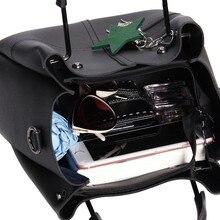 Striped Patchwork Women Shoulder Bags Fashion Pu Leather 2pcsComposite Bag Famous Designer Brand Tassel Female Handbag Sets