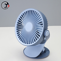 2000 mAh Battery Operated Clip Fan Min 360° Portable Powered Quiet Desk Fans USB Charging for Baby Stroller Office Trave