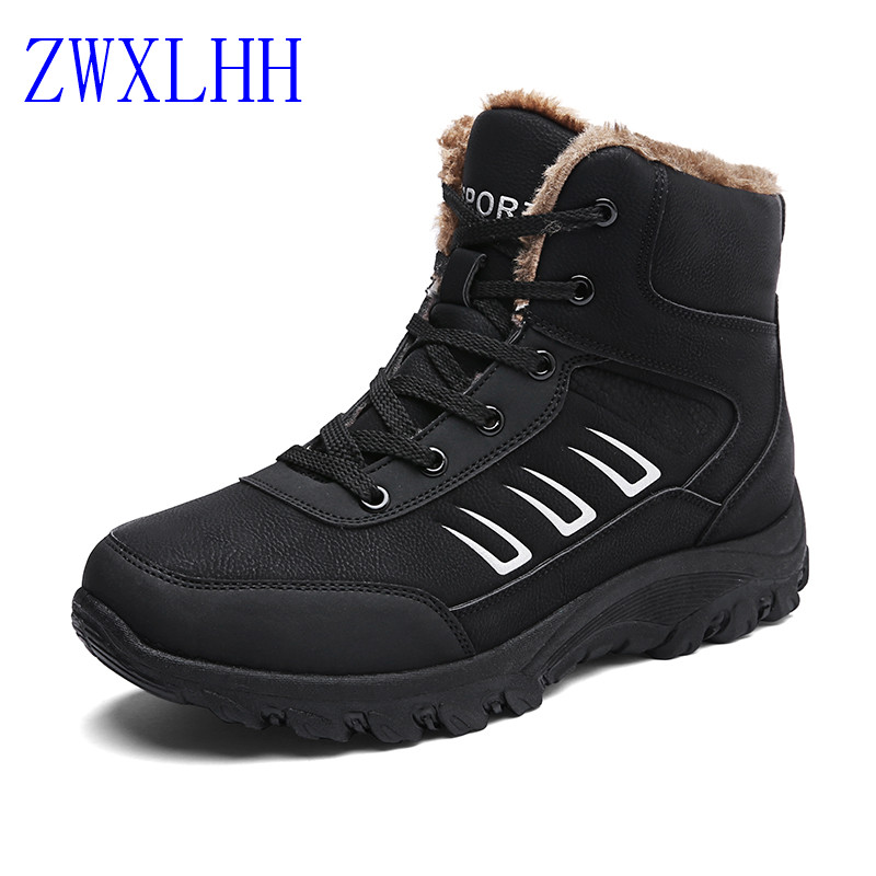 2017 Winter men Boots Warm Plush Sneakers Brand Outdoor Unisex Sport Shoes Comfortable Sneakers Running Shoes  size:39--44 peak sport men outdoor bas basketball shoes medium cut breathable comfortable revolve tech sneakers athletic training boots