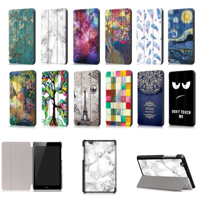 Magnetic Painted pu Case For Huawei MediaPad T3 7 3G BG2-U01 Protective Cover For Huawei MediaPad T3 7.0 3G 7''tablet case 2018 new for samsung galaxy tab s4 10 5 case shockproof tablet liner sleeve bag for galaxy sm t830 sm t835 t830 t835 cover