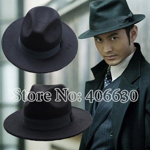 Online Shop Winter Artificial Polyester Wool Felt Fedora Hats Men Wide Brim  Chapeu Panama Jazz Caps Free Shipping SDDB005  7a98efa4230