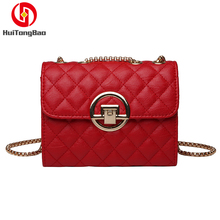 Fashion Spring Women Bag Trend Shoulder Messenger Chain Rhombic Package PU Leather High Quality