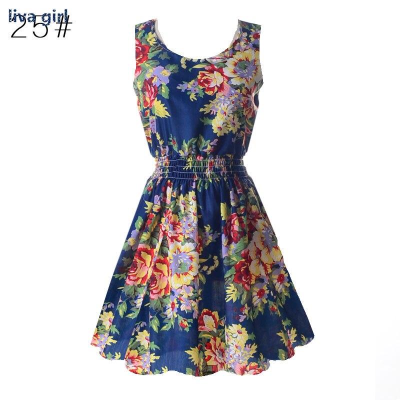 2017 sommer frauen dress casual böhmischen floral sommerkleid - Damenbekleidung - Foto 2