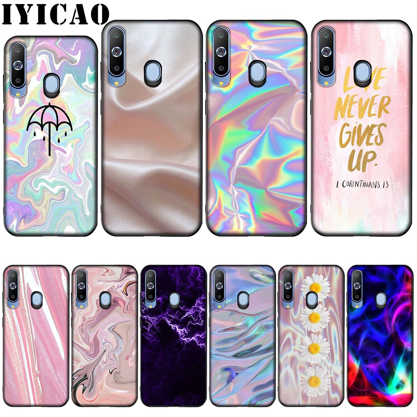 Funda IYICAO Pastel metálico Tumblr bonita silicona suave funda para  Samsung Galaxy A10 A30 A40 A50 A70 M10 M20 M30|Fundas ajustadas| -  AliExpress