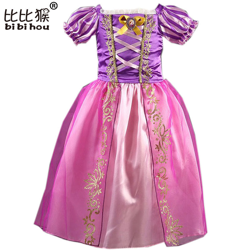 bc9225f02cbd Baby Kids Summer Rapunzel Cosplay Costume Clothes Princess Cinderella  Dresses for Girls Snow Queen Elsa Dress Children Clothing