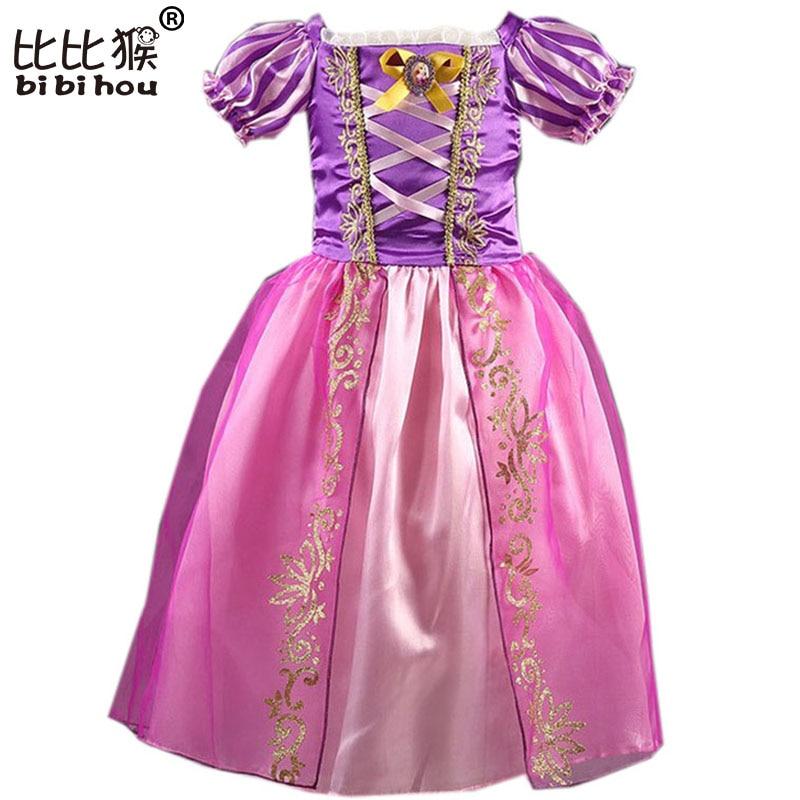Bebé niños verano Rapunzel Cosplay traje princesa Cenicienta ...