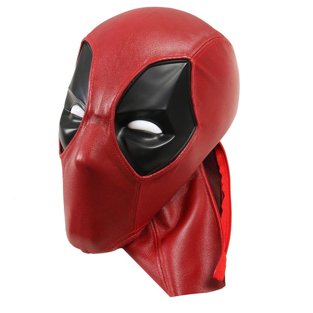 Nouvelle Arrivée Amélioré Deadpool ABS En Plastique Plein Shell Masque/Casque avec Deux Ensembles de Magnétique Lentilles Halloween Prop Cadeau Cosplay