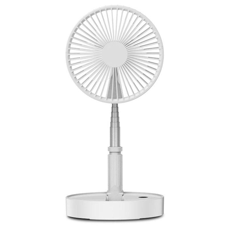 Portable Usb ventilateur de charge télescopique ventilateurs pliants bureau à domicile atterrissage silencieux ventilateur refroidisseur d'air été bureau Table muette F