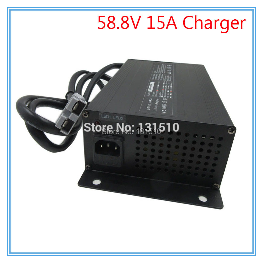 900W 48V 52V 15A lithium charger Ouput 58 8V 15A charger 110 220V Use for 14S