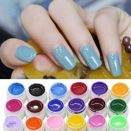 30/36 Pcs Mix Цвет Nail Art УФ-Гель Pure Профессиональные Красочные Ногтей Гелем УФ-Комплект