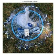 Lawaia deep hole cast net Hot Sale diameter 3-7.2m American Style old salt cast net 1*1cm Small Mesh Cast Net Rings