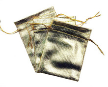 100 unids 13*18 cm bolso de lazo bolsas de mujer de la vendimia de oro para La Boda/Fiesta/de La Joyería/de la Navidad/bolsa de Envasado Bolsa de regalo hecho a mano diy