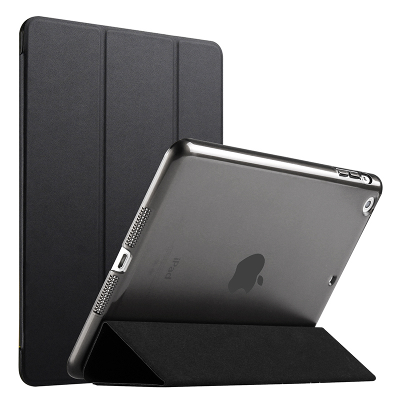 ZIMOON Yippee Color Case For Apple iPad mini 4 Ultra Slim Tri-fold PU Leather Smart Cover With Transparent Hard Back slim smart case for ipad mini 1 2 3 4 pu leather smart cover transparent pc hard back case tri fold stand for apple ipad mini 4