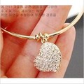 Free shipping top quality trendy summer style Brand New fashion hot Heart crystal jewelry charm bracelet & anklet for women