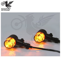 black smoke lens lamp amber scooter indicator moto blinker for Harley Davidson motorcycle flashers for harley turn signal light