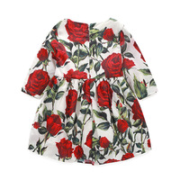 Milan Creations Baby Girl Dresses Kids Clothes 2016 Brand Children Costumes For Girls Princess Dress Floral