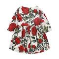Milan Creations Baby Girl Dresses Kids Clothes 2016 Brand Children Costumes for Girls Princess Dress Floral Pattern Girls Dress