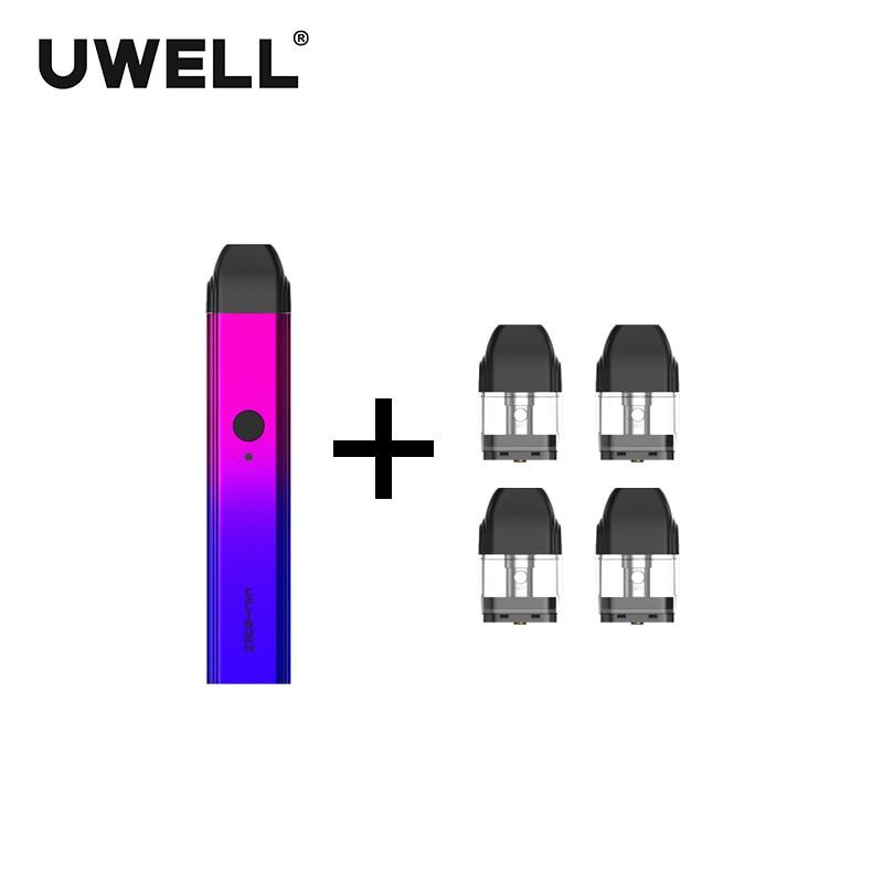 ¡En Stock! Kit de sistema portátil UWELL Caliburn y 1 paquete de cartucho rellenable de 2 ml kit de