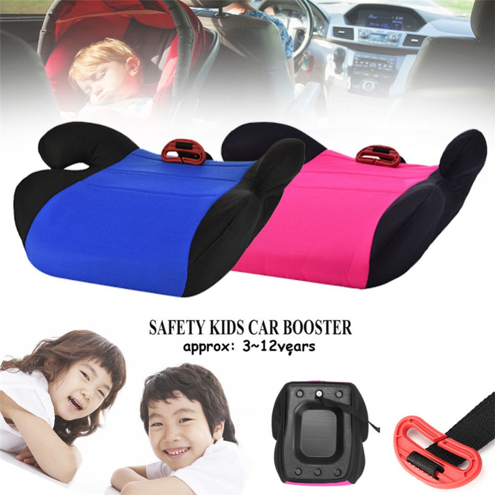 Baby Seat Booster Safe Car Seat Booster Pad Pink/Blue Suitable For Children Kids Aged 3-12 Safe Riding Heightening Pad