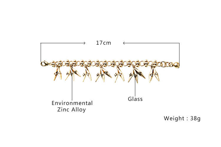Gold Color Charm Bracelet Classic Leaves Pendant Bracelet Feminine Statement Jewelry Hot Sale 2016