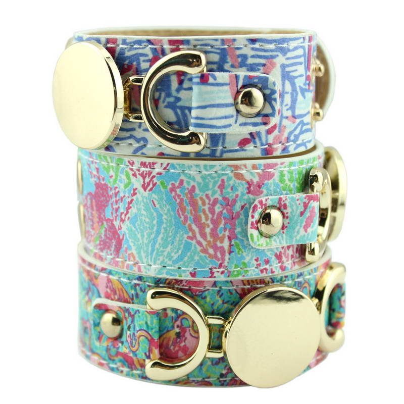 Lilly Pulitzer Women Leather Snap