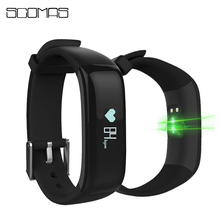 SCOMAS Smart Band Watchband Health Fitness Tracker Heart Rate Monitor Blood Pressure Measurement Sports Wristband Bluetooth fill rate measurement