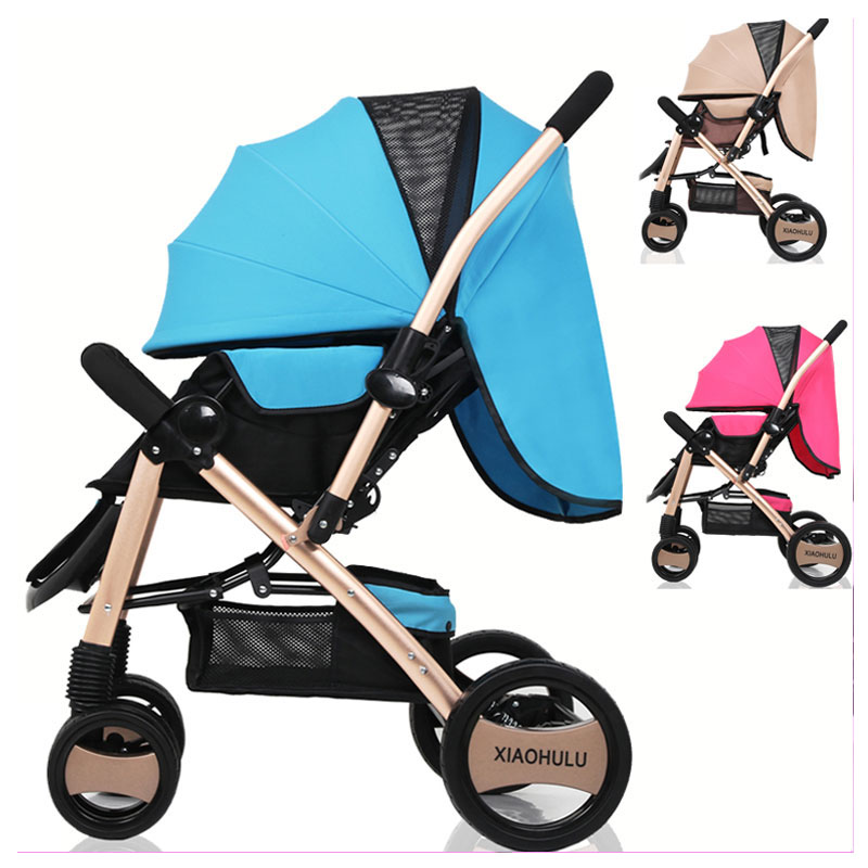 Light Baby Flat Lie Ultra Portable Folding Umbrella Stroller Car Suspension High Landspace Baby Pram Pushchair Baby Trolley 0~3Y цена