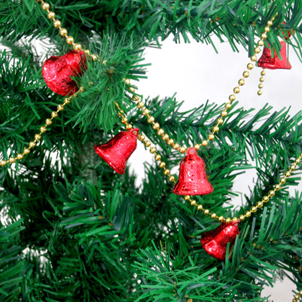 5pcsset 8 bells chain christmas bells ornaments bell chain christmas tree ornaments decorations for home outdoor baubles in christmas bells from home - Christmas Bells Decorations
