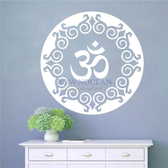 Hot sale religion indian round yoga arabic symbol wall sticker decorations for home vinyl removable art