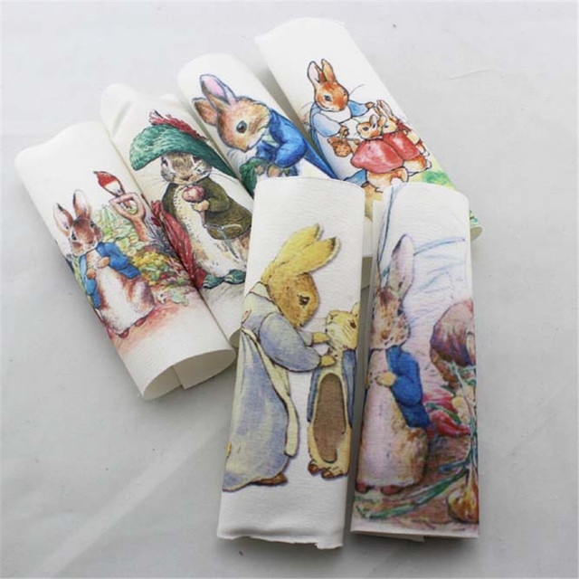 Peter rabbit Hand dyed cloth 6 Assorted 100% Cotton  Printed Quilt Fabric For DIY Sewing Patchwork Home Textile Decor 15*15cm