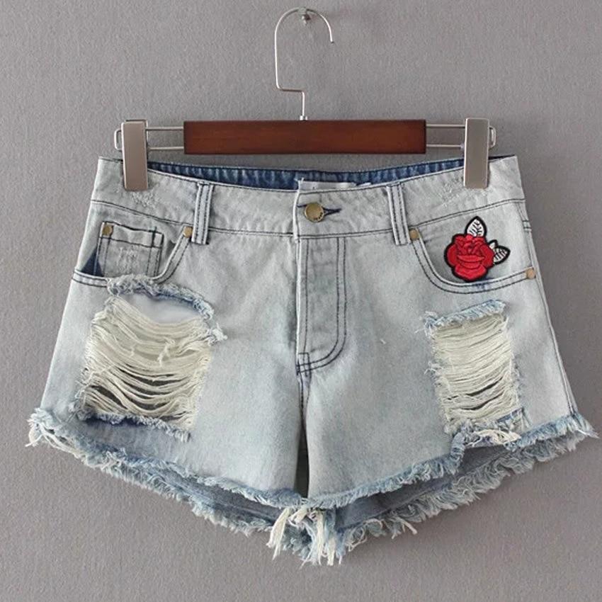 Summer High Waist Denim Shorts casual female jeans shorts fashion brand