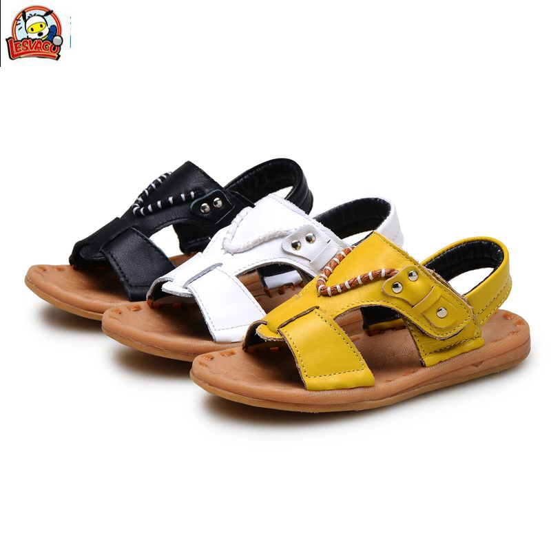 Lesvago quality boys genuine leather breathable sandals children baby boy sandals 1-3 years old kid boy shoes