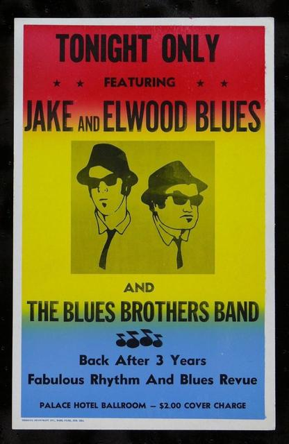 The Blues Brothers Movie Replica Prop Concert Poster Decor Best Canvas Print 50x75cm FREE SHIPPING