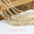 "wholesale Natural Stone Smooth Citrine Quartz Loose Beads 15.5"" Pick Size 4 6 8 10 12mm For Jewelry Making (F00142)"